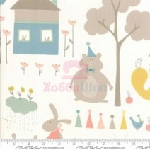 Ткань хлопок 100% Corner Of 5th Fun Moda Fabrics 17901-11